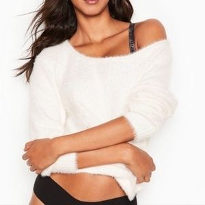 NWT Victoria's Secret Fuzzy Sweater - Off White